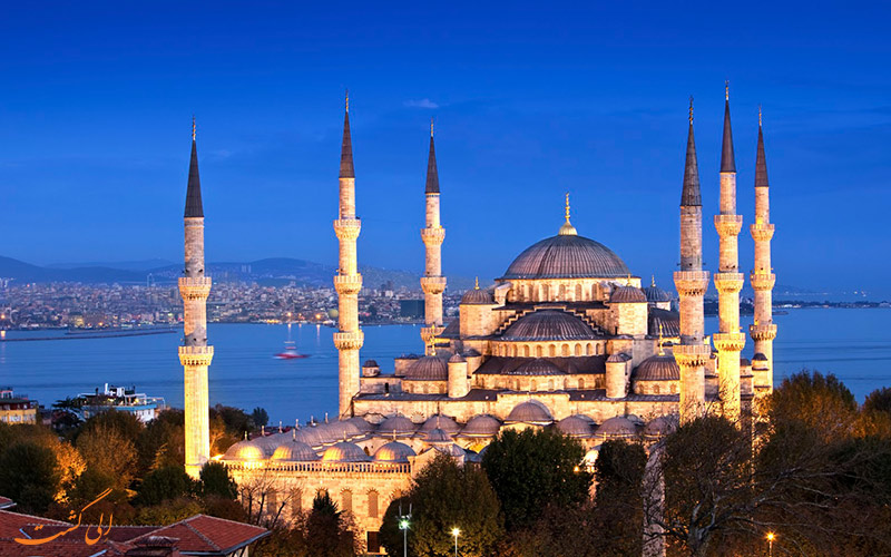 چشم اندازی زیبا از مسجد