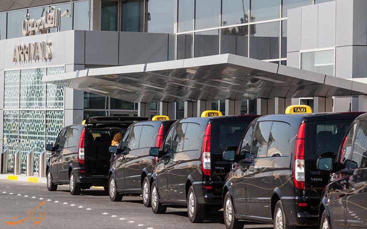 تاکسی در حمل و نقل فرودگاه ابوظبی