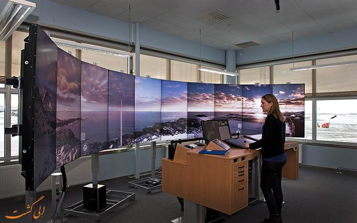 برج مراقبت مجازی و فرودگاه کنترل از راه دور