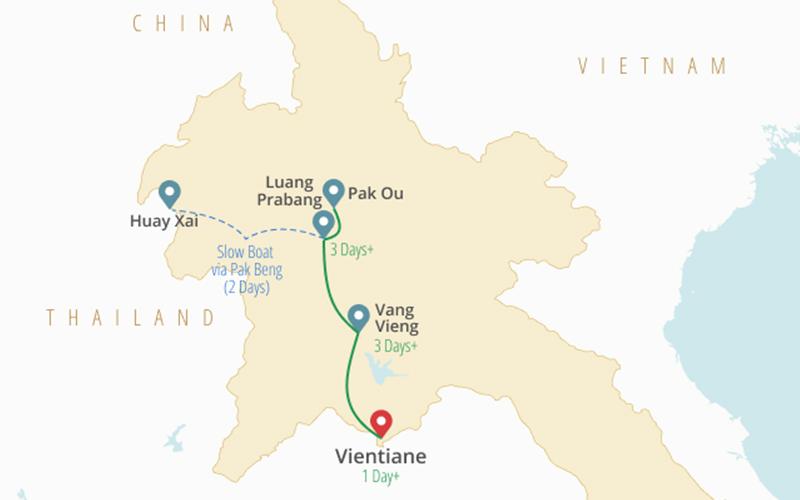 نکات سفر به کشور لائوس - مسیرها