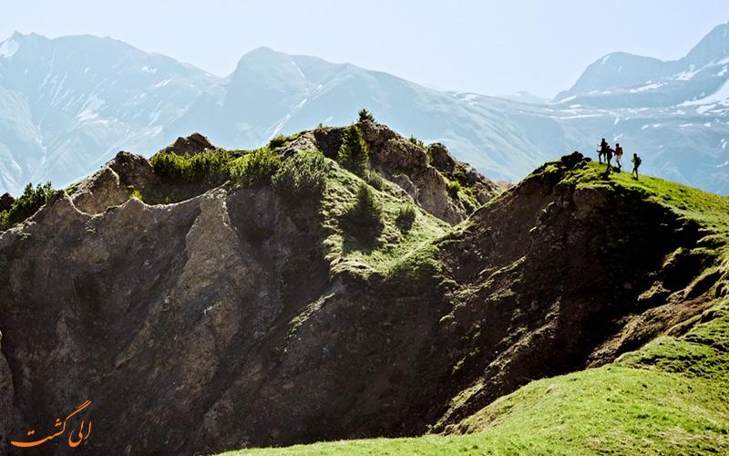پیاده روی پیست اسکی لخ زورس اتریش