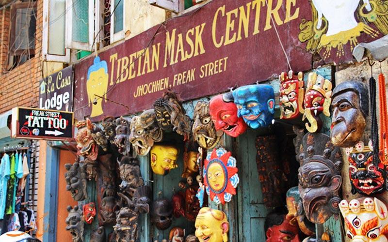 خیابان فریک کاتماندو | ماسک های تبتی