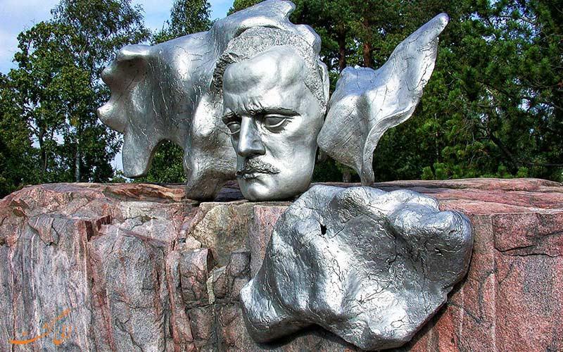 مجسمه سیبلیوس هلسینکی چهره آهنگساز