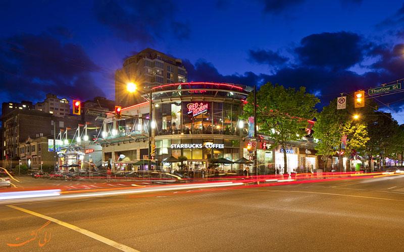 رستوران هایی در خیابان رابسون ونکوور