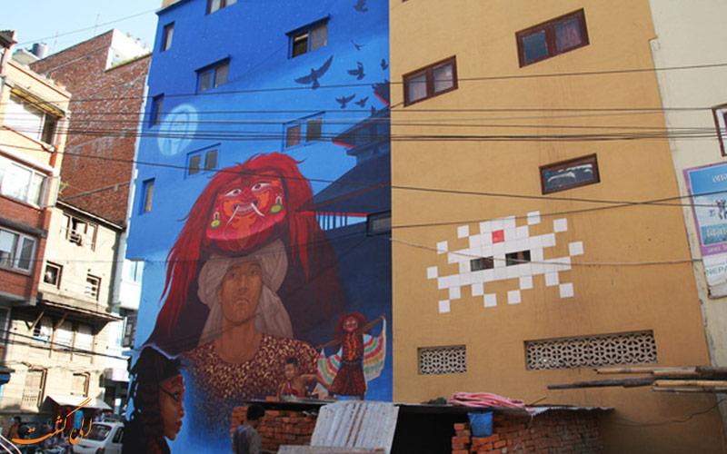 خیابان فریک کاتماندو | نقاشی دیواری لخی
