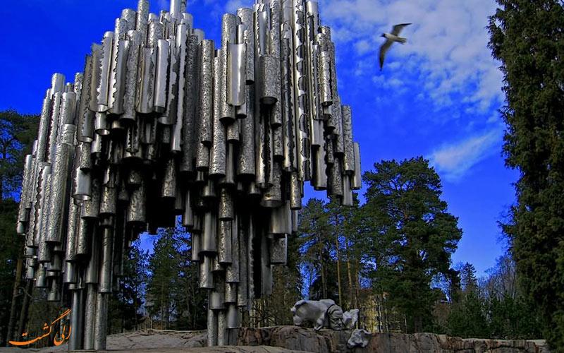 مجسمه سیبلیوس فنلاند