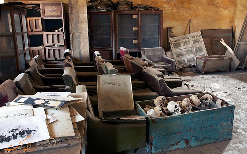 بخشی از موزه نسل کشی کامبوج
