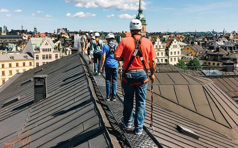 تورهای روی پشت بام خانه های شهر ققدیمی استکهلم