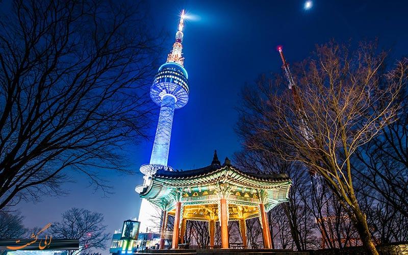 برج ان سئول در شب