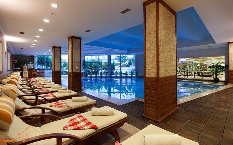 استخر سرپوشیده هتل رویال آسارلیک بیچ بدروم