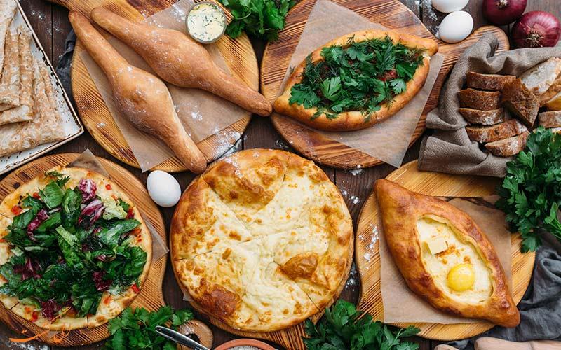 غذاهای نواحی مختلف گرجستان