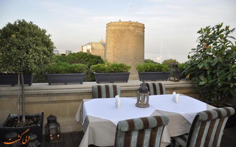 هتل سلطان این بوتیک باکو- نمای برج مایدن