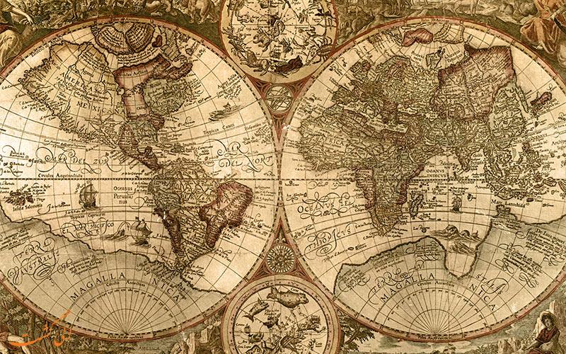 چرا همیشه در نقشه ها، جهت شمال در بالای صفحه است؟