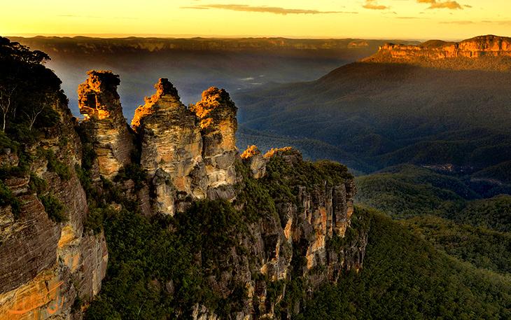 کوهستان آبی در غرب شهر سیدنی