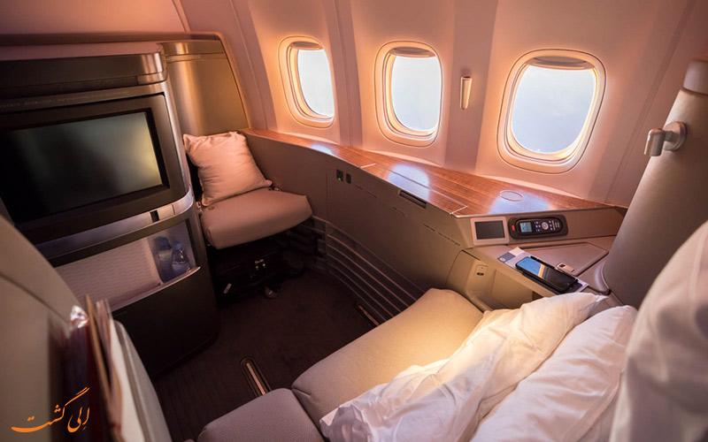 آشنایی با پروازهای فرست کلاس شرکت هواپیمایی کاتای پاسفیک