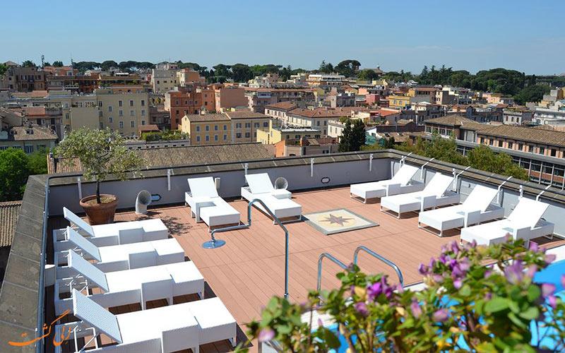 هتل مرکیور سنترو کلوسئو رم- تراس پشت بام هتل