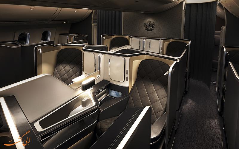 کابین لوکس شرکت هواپیمایی بریتیش ایرویز