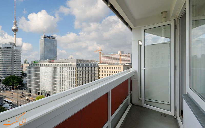 هتل مرکیور ام الکساندرپلاتز برلین- نمای تراس ها