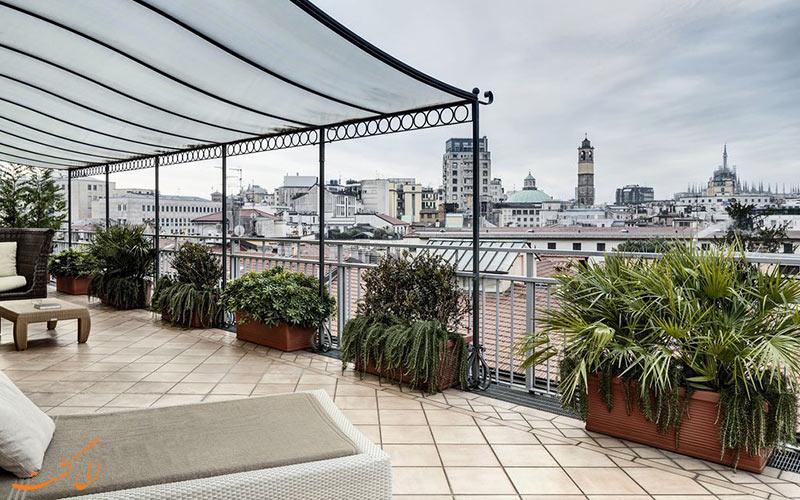 Baglioni Hotel Carlton- eligasht.com تراس هتل