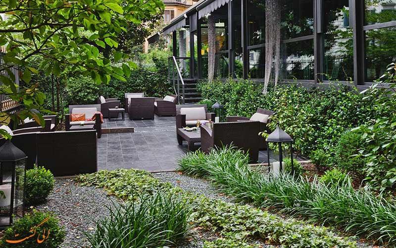 خدمات رفاهی هتل کارلتون باگلیونی میلان- باغ و تراس هتل
