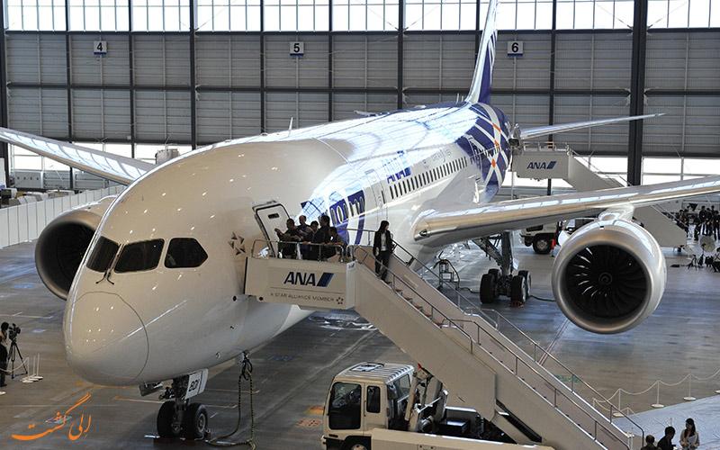 آشنایی با هواپیمای بوئینگ 787 دریم لاینر