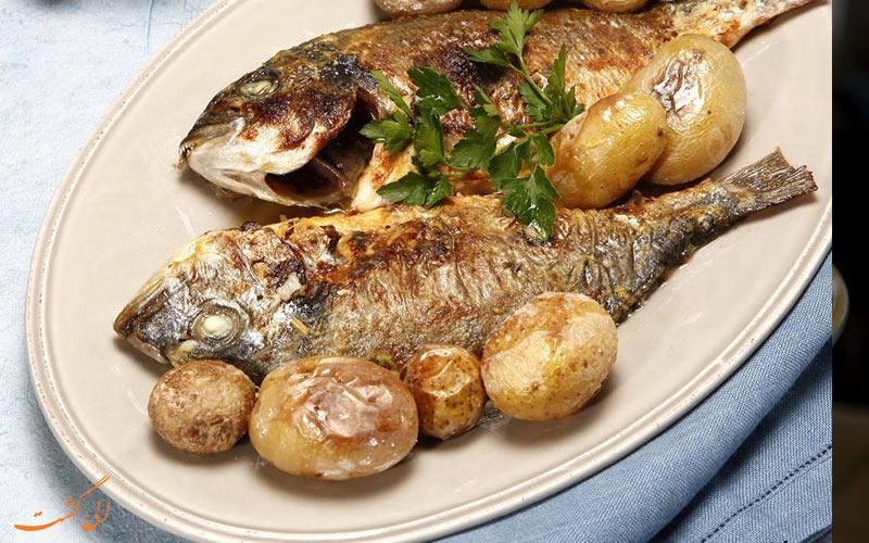 ماهی دورادای کبابی