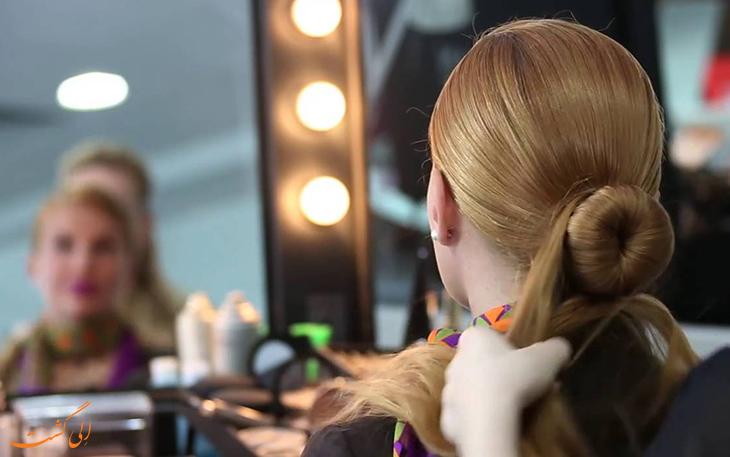 آرایش موی مهمانداران