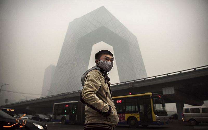 ساخت دودکش جاذب مه دود در چین