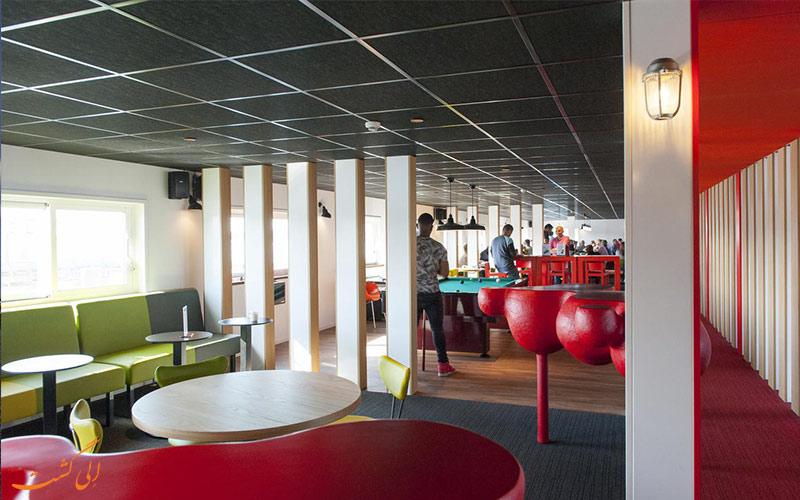 هتل آمستل بوتل آمستردام- کافه کشتی