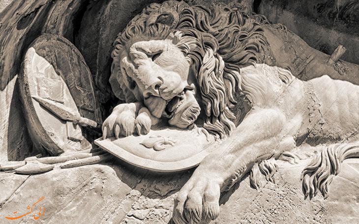 مجسمه شیر لوسرن یادبود جنگ