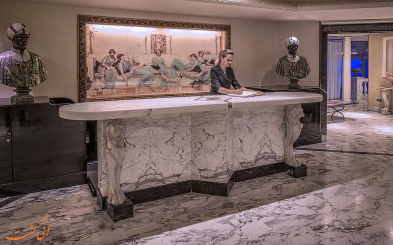 خدمات رفاهی هتل کاوالیری رم- میز پذیرش