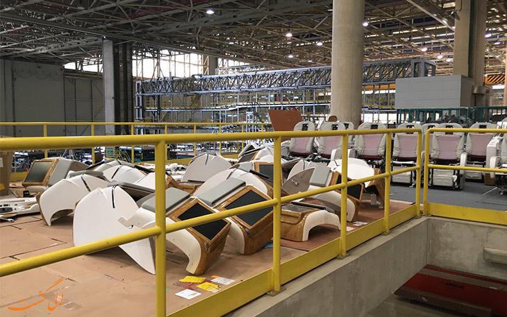 تعویض صندلی های ایرباس ای 380 امارات