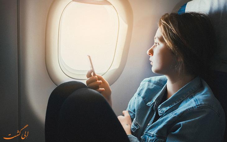 مفهوم زمان برای مسافر هواپیما