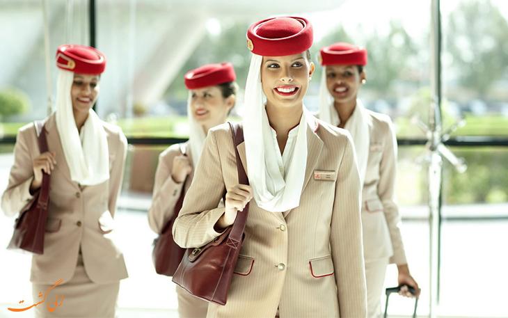 کارکنان هواپیمایی امارات