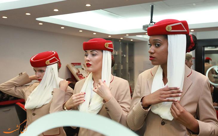 لباس فرم مهمانداران امارات