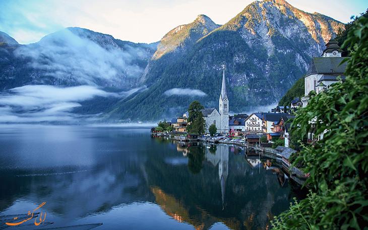 دهکده ی هال اشتات در اتریش