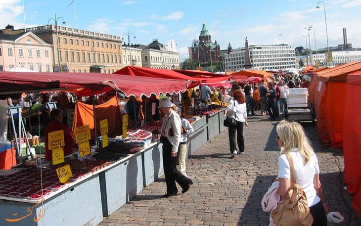 بازار شهر هلسینکی فنلاند