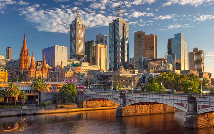 شهر ملبورن استرالیا