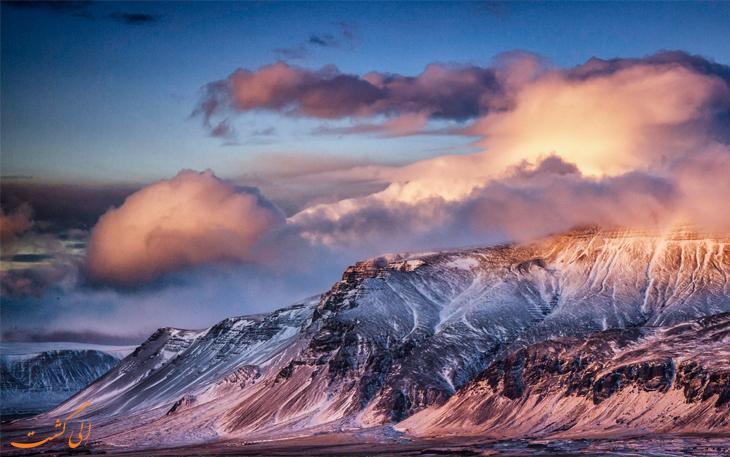 کوه های زیبای ایسلند