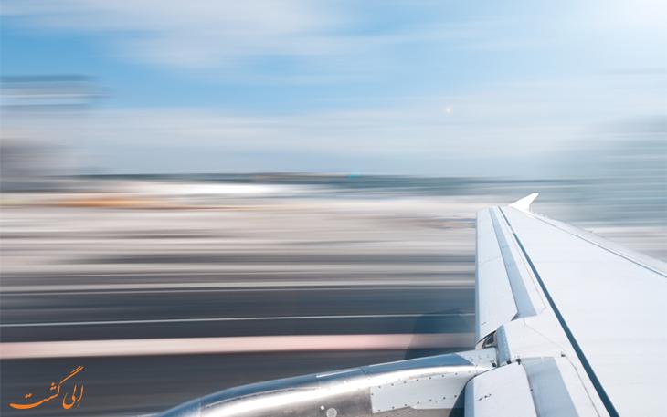 هواپیما در حال حرکت