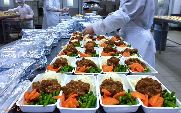 کیترینگ و کیفیت غذای هواپیمایی سنگاپور