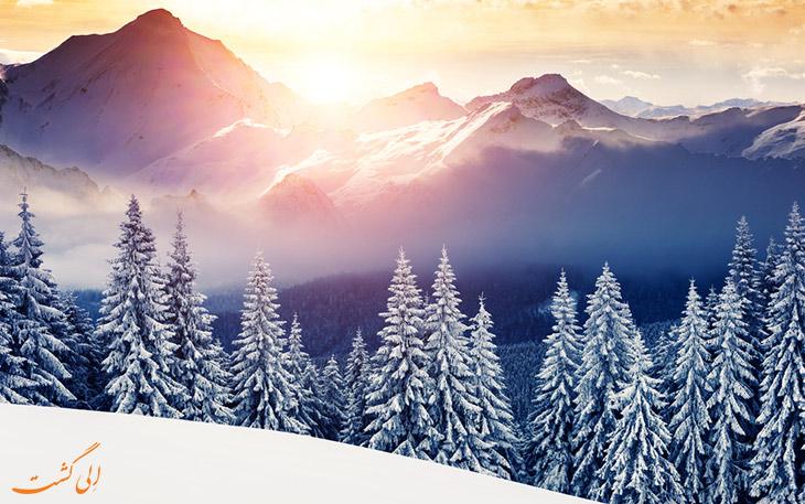 پارک ملی سوئیس در زمستان