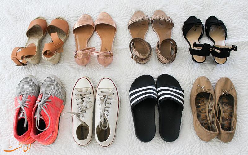 انتخاب کفش - نحوه بستن چمدان هوشمندانه