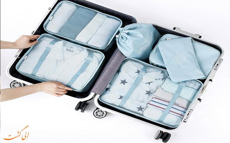 لباس هایتان را جداگانه بسته بندی کنید- How to Pack