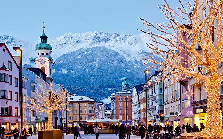 جاذبه های شهر اینسبروک در اتریش