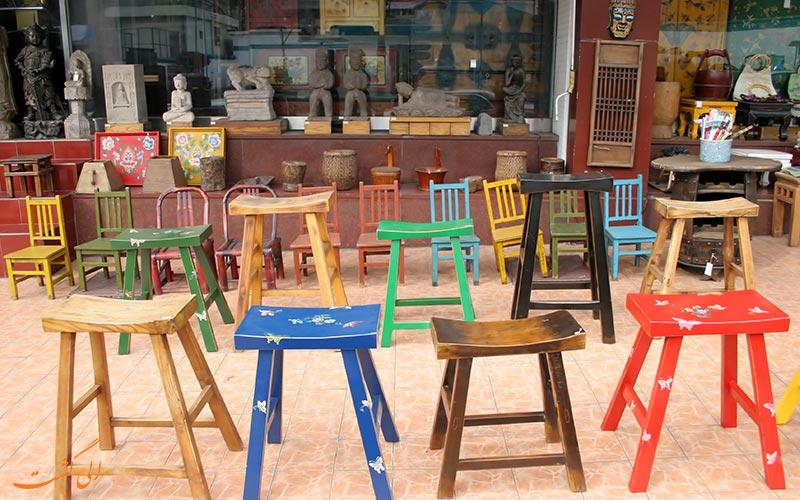 کافه ای در محله ایتاون سئول