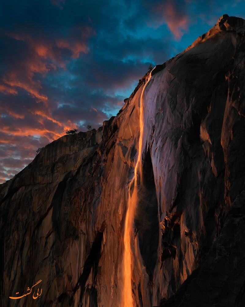 آبشار آتشین پارک ملی یوسمیت