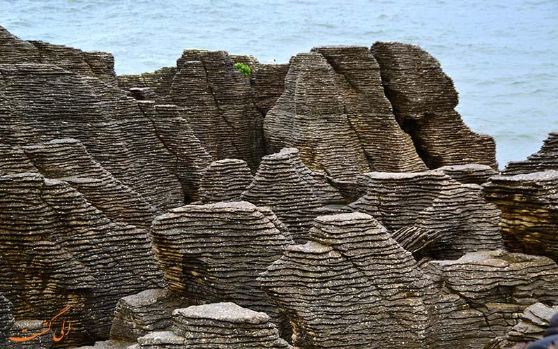 صخره های پنکیکی نیوزیلند