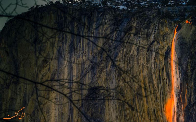 آبشار آتشین یوسمیت | Firefall