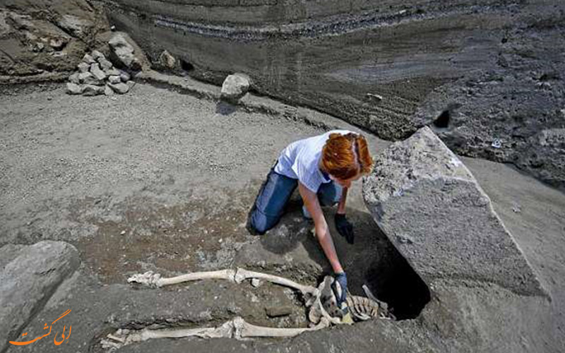 کودک 2000 ساله آتشفشان وزوو